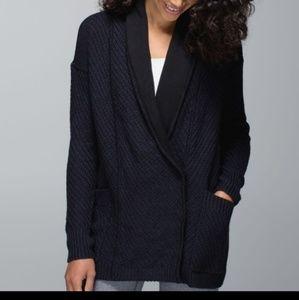 Lululemon Knit Black Cardigan Size 6 Post-Practice